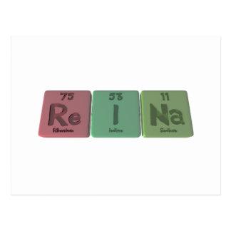 Reina  as Rhenium Iodine Sodium Postcard