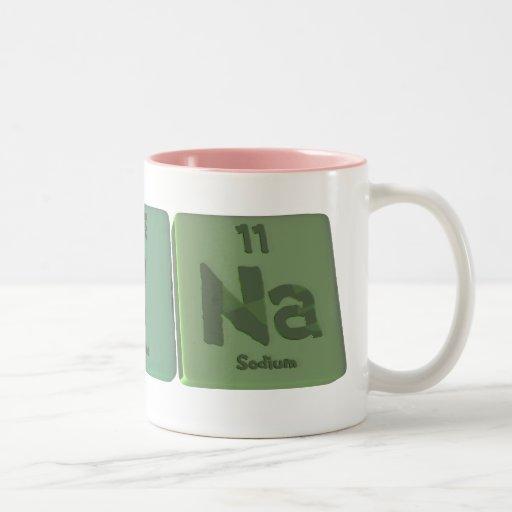 Reina as Rhenium Iodine Sodium Two-Tone Coffee Mug