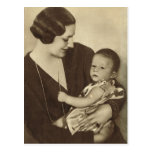 Reina Astrid de Bélgica con Príncipe Alberto Tarjetas Postales