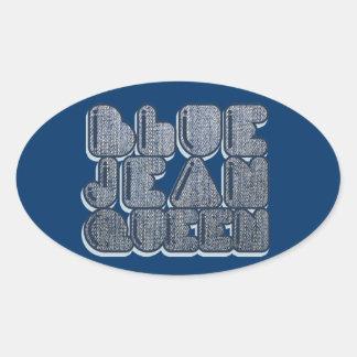 Reina azul de Jean Calcomania De Oval