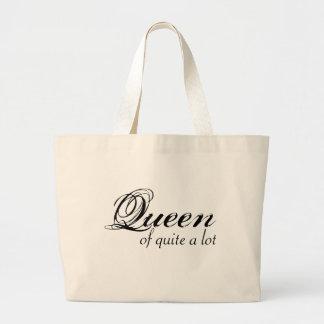 Reina bastante del tote bolsa de tela grande