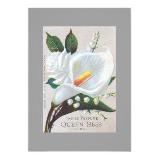 Reina Bess del perfume de la tripa del vintage Invitación 12,7 X 17,8 Cm
