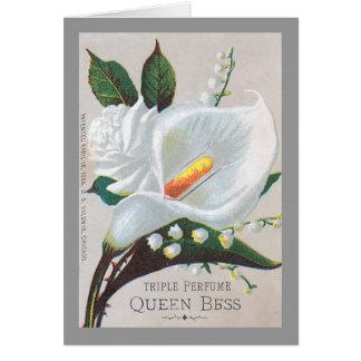 Reina Bess del perfume de la tripa del vintage Felicitaciones