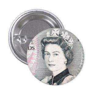 Reina británica Elizabeth 2 Pin Redondo De 1 Pulgada