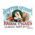 Reina británica La Habana del vintage de los cigar Tarjetas Postales