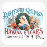 Reina británica La Habana del vintage de los Colcomanias Cuadradass