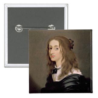 Reina Christina de Suecia 1652 Pin Cuadrado