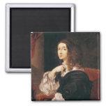 Reina Christina de Suecia Imán Cuadrado