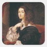 Reina Christina de Suecia Pegatina Cuadrada