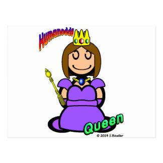 Reina (con los logotipos) postal