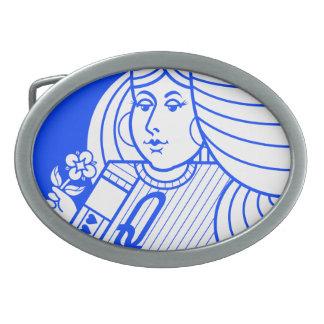 Reina contemporánea de la hebilla del cinturón de hebilla cinturon oval
