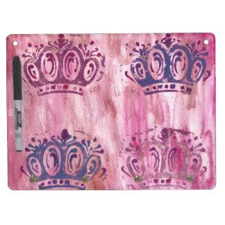 Reina coronas Memoboard + Percha de llave Pizarra