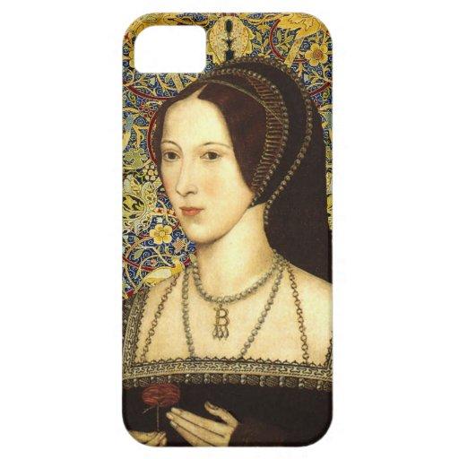 Reina de Ana Bolena de la caja del teléfono de Ing iPhone 5 Protectores
