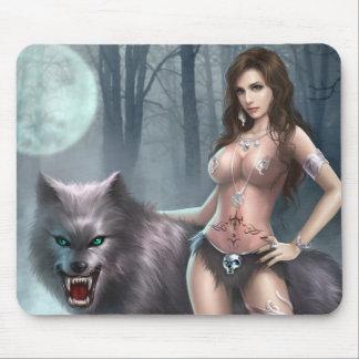 Reina de Azmodeus Lycan, cojín de ratón Tapetes De Ratones