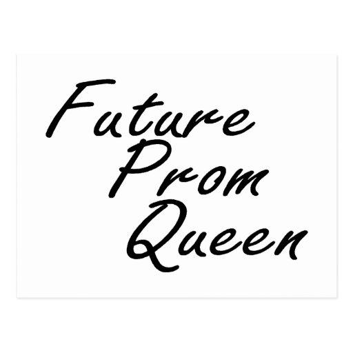 Reina de baile de fin de curso futura postales