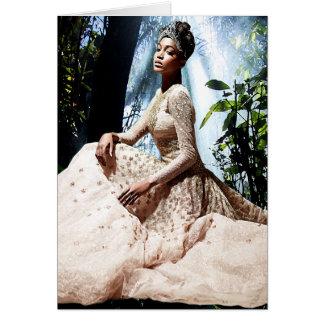 Reina de belleza africana de la selva tarjeta de felicitación