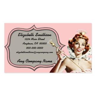 Reina de belleza del vintage plantilla de tarjeta personal