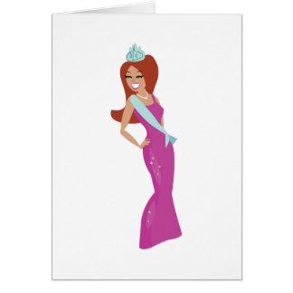 Reina de belleza tarjeta de felicitación