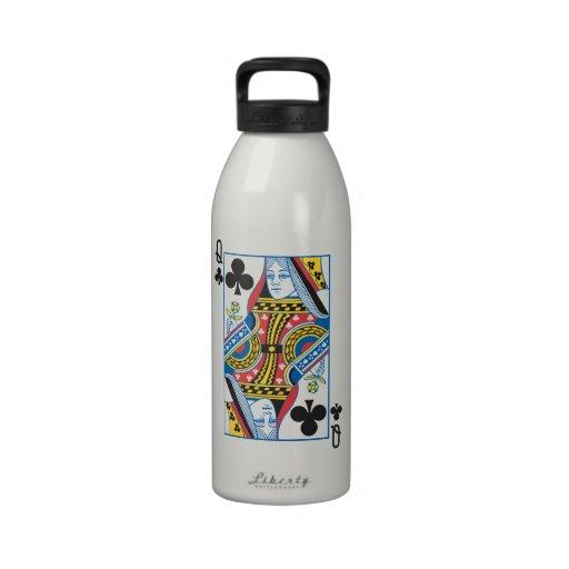 Reina de Bicycle® de clubs Botellas De Agua Reutilizables