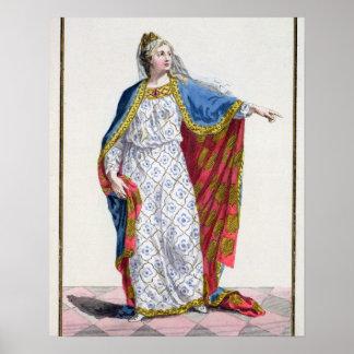 Reina de Blanche de Castile (1185/88-1252) de Fran Póster