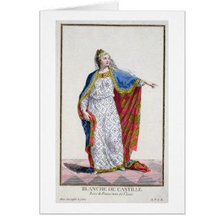 Reina de Blanche de Castile (1185/88-1252) de Fran Tarjeta De Felicitación