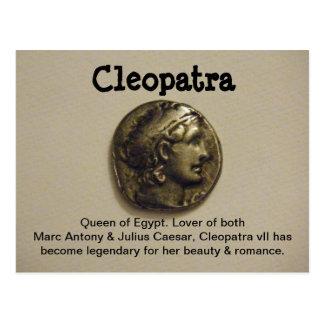 Reina de Cleopatra de la postal de Egipto