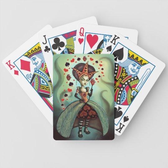 Reina de corazones baraja de cartas bicycle