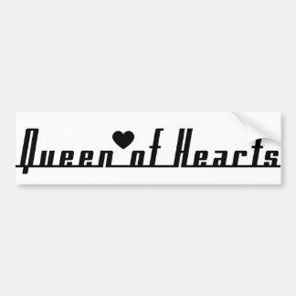 Reina de corazones etiqueta de parachoque