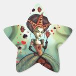 Reina de corazones colcomanias forma de estrellaes personalizadas