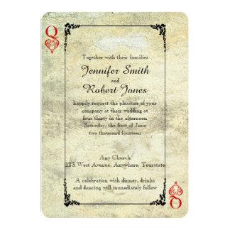 Reina de corazones que casa la invitación invitación 12,7 x 17,8 cm
