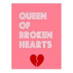 Reina de corazones quebrados postales