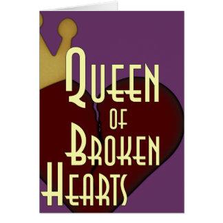 Reina de corazones quebrados tarjeta