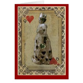 Reina de corazones tarjetas