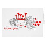 reina de corazones tarjeta