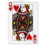 Reina de corazones tarjetón