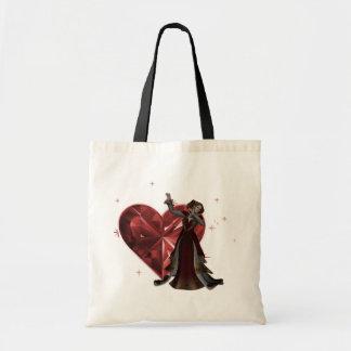 Reina de corazones y de la joya del corazón - rojo bolsa tela barata