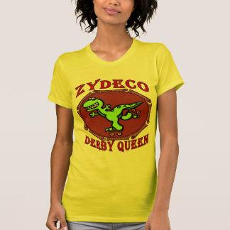 Reina de Derby del rodillo de Zydeco Playera