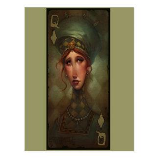 Reina de diamantes tarjeta postal