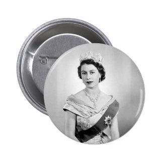 Reina de Elizabeth II de Inglaterra Pin Redondo De 2 Pulgadas