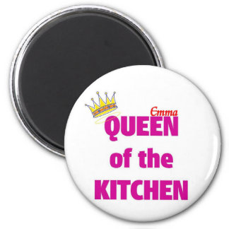 Reina de Emma de la cocina Imán Redondo 5 Cm