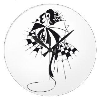 Reina de espadas reloj redondo grande