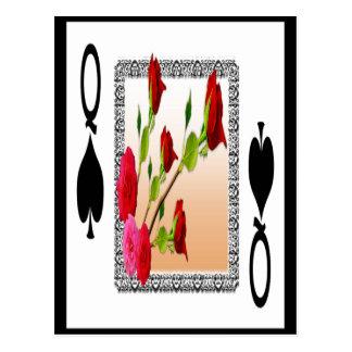 Reina de espadas tarjeta postal