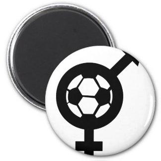 reina de fricción del fútbol imán redondo 5 cm