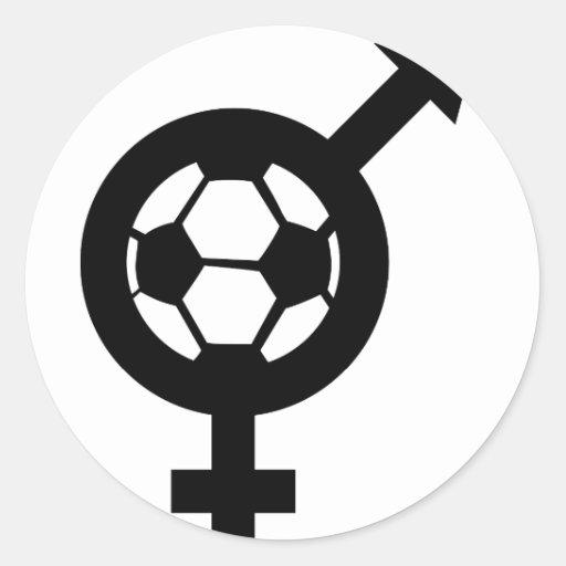reina de fricción del fútbol pegatina redonda