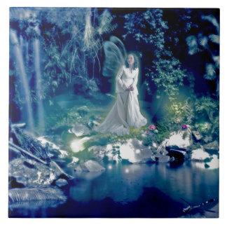 Reina de hadas azulejo cuadrado grande