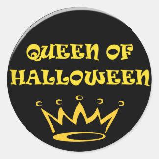 Reina de Halloween Pegatina Redonda
