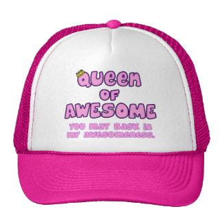 Reina de impresionante gorra