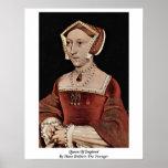 Reina de Inglaterra de Hans Holbein el más joven Impresiones