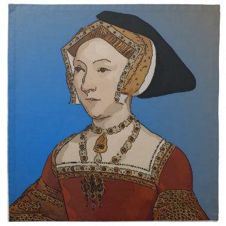Reina de Jane Seymour del Enrique VIII de Inglater Servilletas