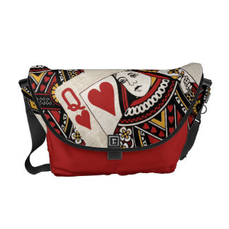 Reina de la bolsa de mensajero de los corazones bolsa messenger